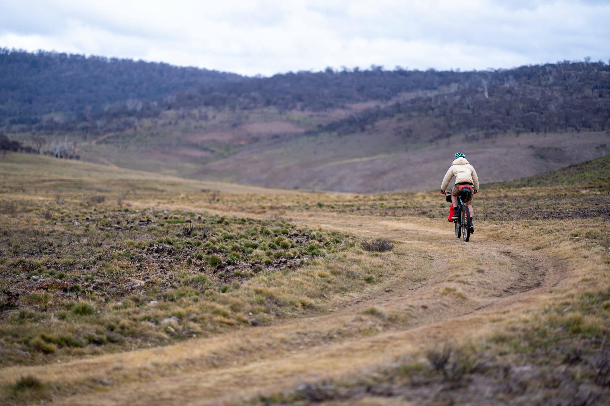 bikepacking rider in the Jagungal Wildernss
