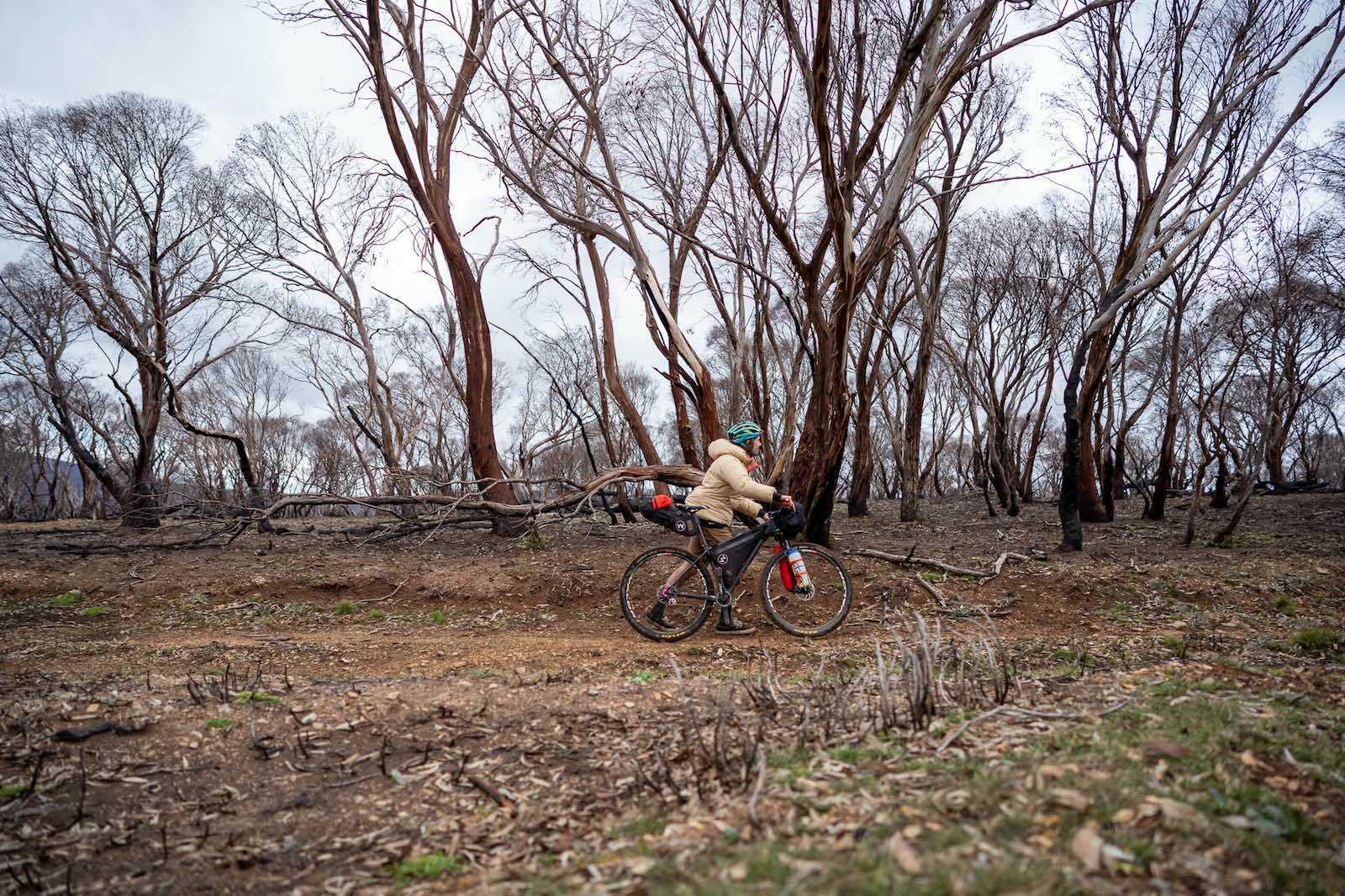 hike a bike, bikepacking in the Jagungal Wilderness