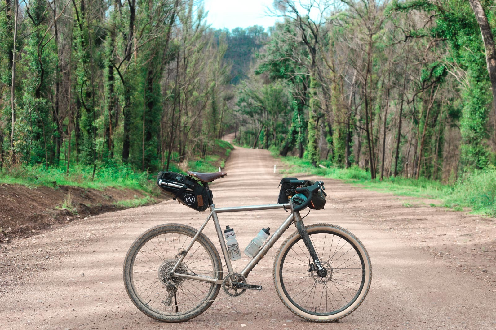 Bikepacking rig - photo taken in Deua National Park on the route from Canberra to the Coast