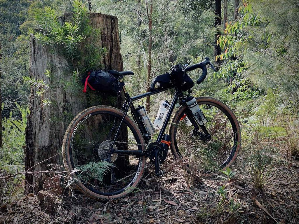 Jason's bike, loaded up with water and snacks for the Wyong and Laguna gravel loop