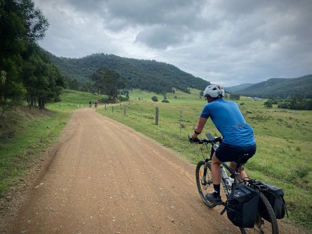 perfect gravel road on the Wyong and Laguna gravel loop