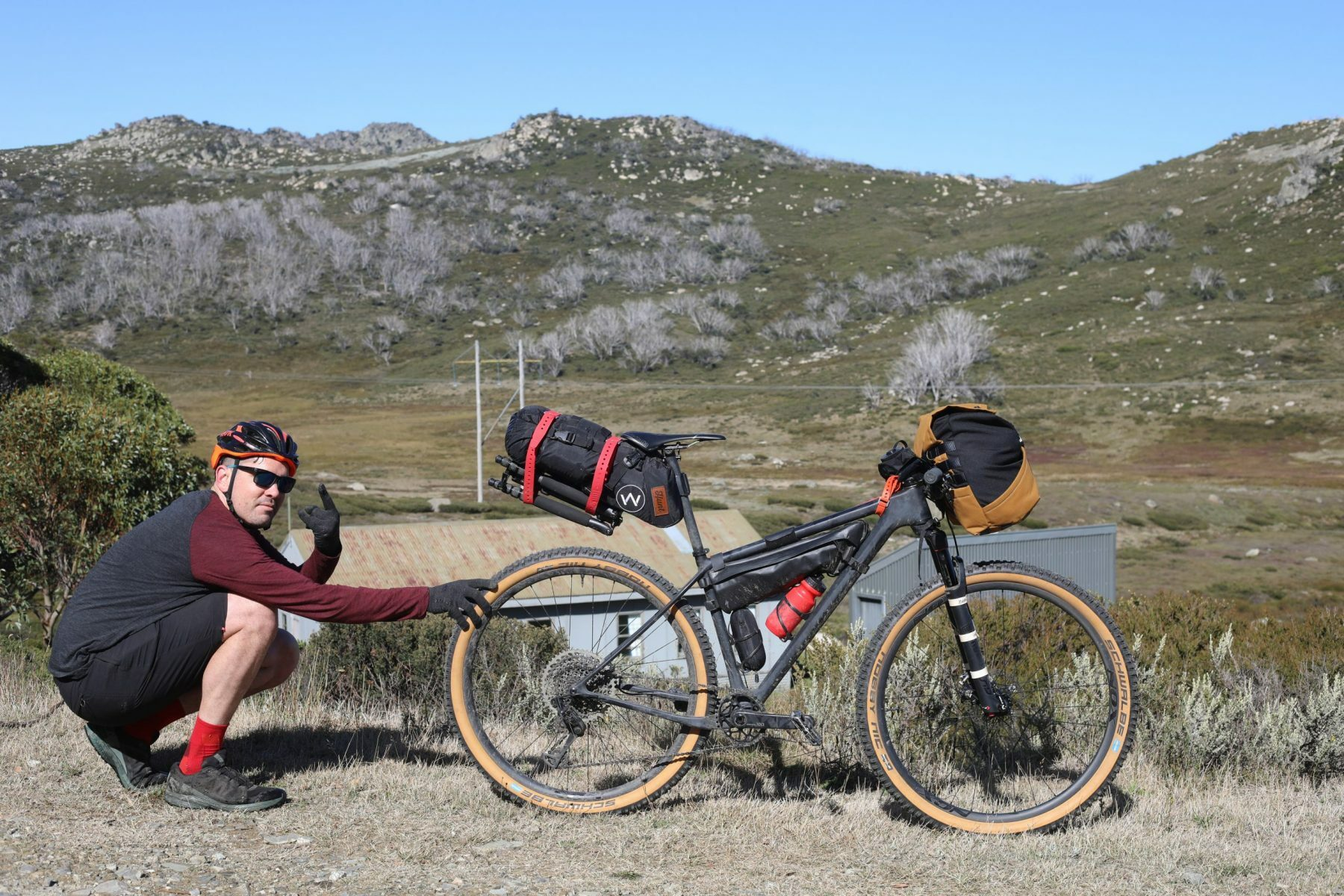 Bikepacking to Schlink Hilton Hut