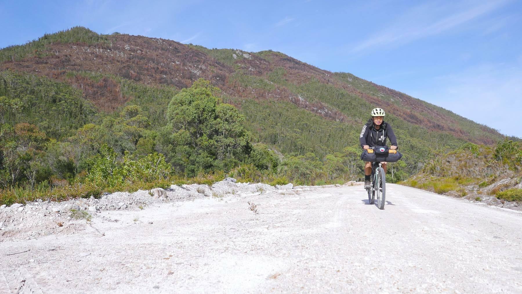 bikepacking in Western Tasmania