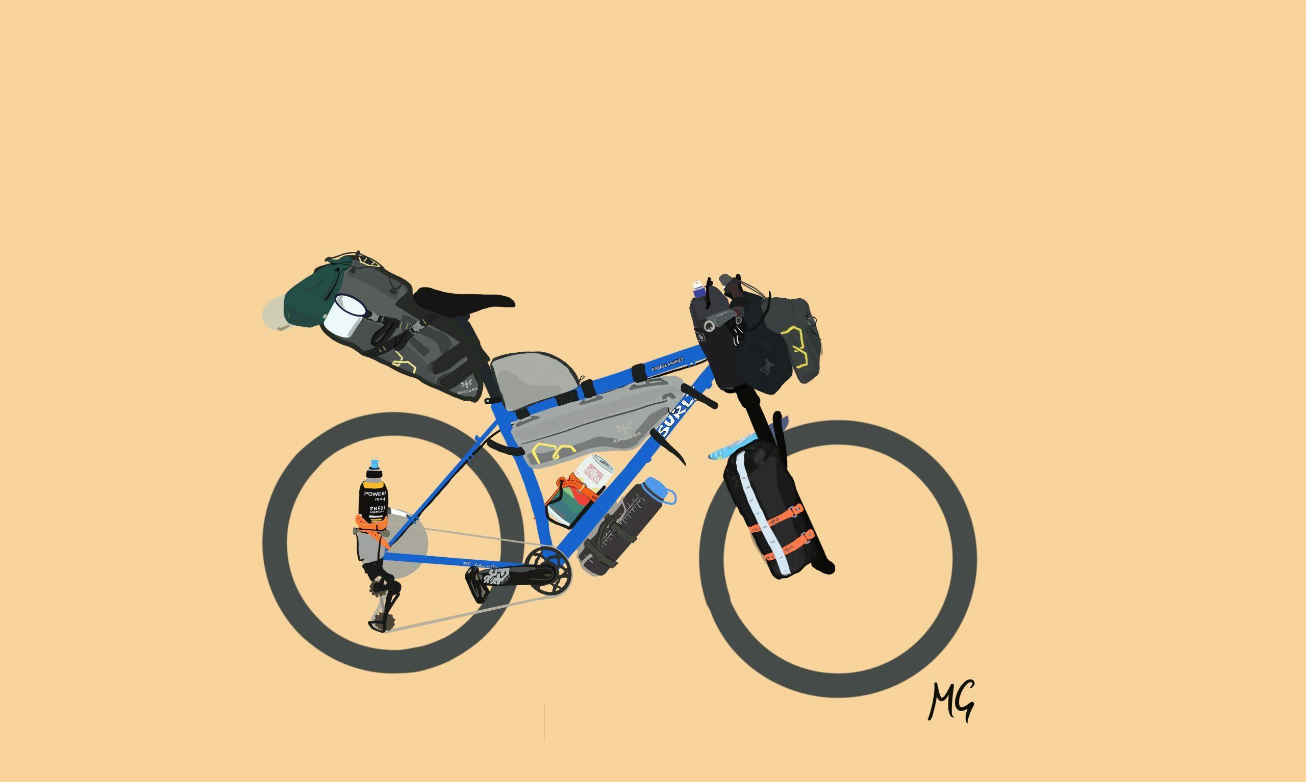 Creative bike people @Mattiedrawsbikes Mattie draws bikes bikepacking illustrations using procreate