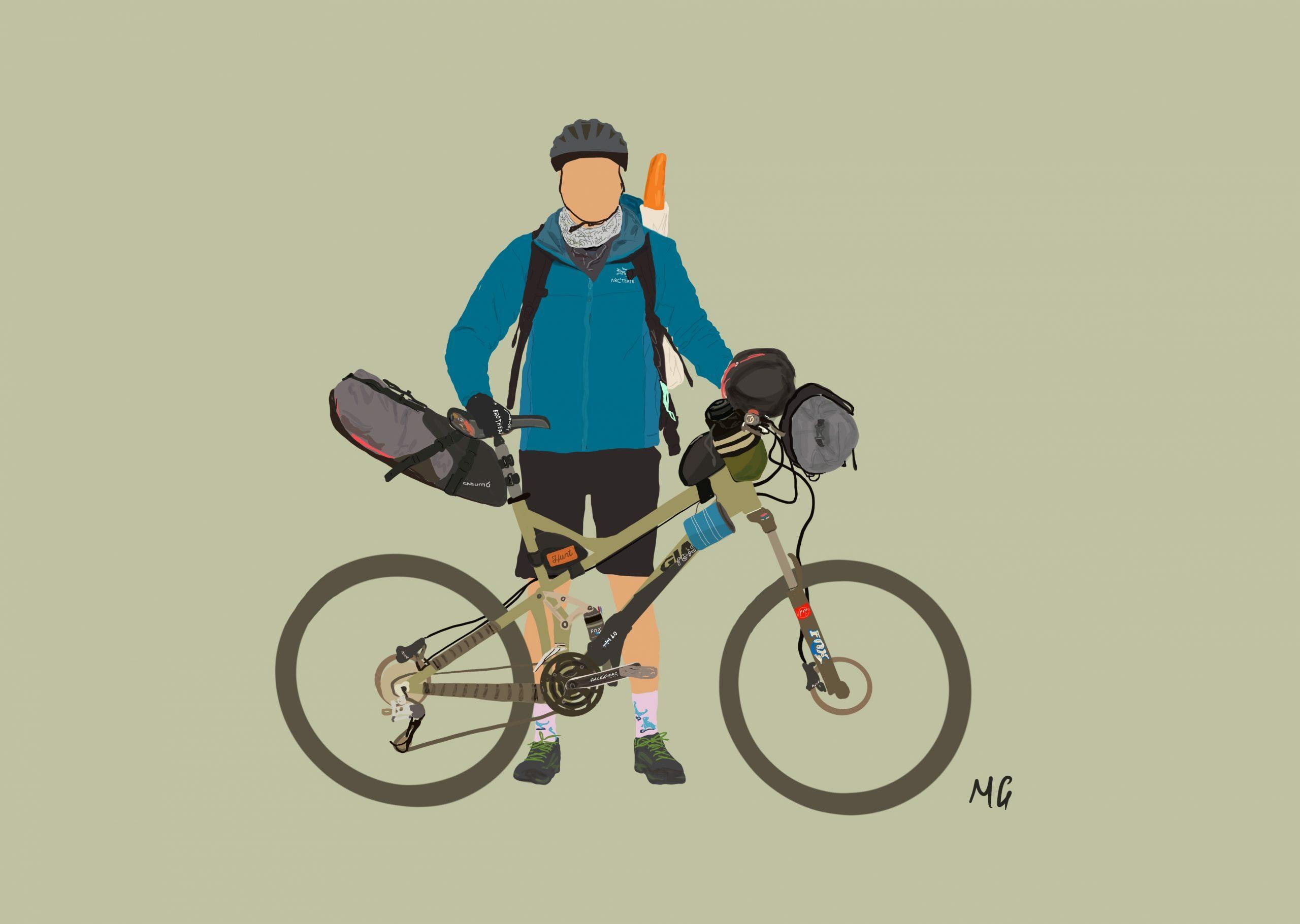 Tim Ashelford, editor of We Are Explorers - @Mattiedrawsbikes Mattie draws bikes bikepacking illustrations using procreate
