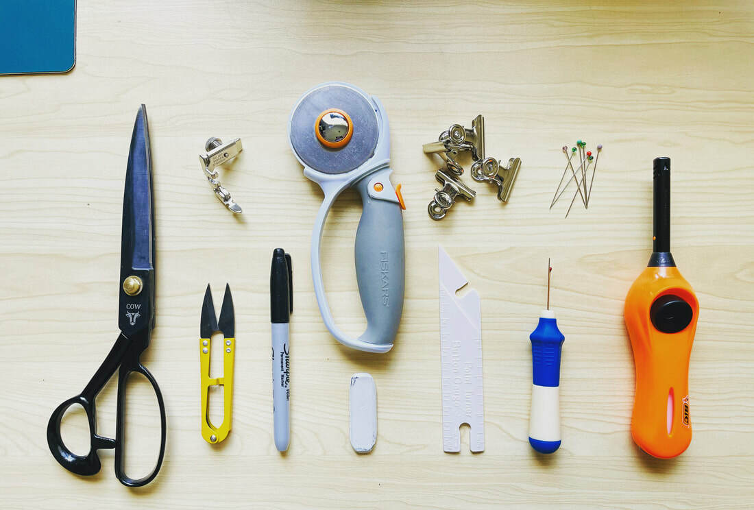 Sewing tools needed to make your own bikepacking gear