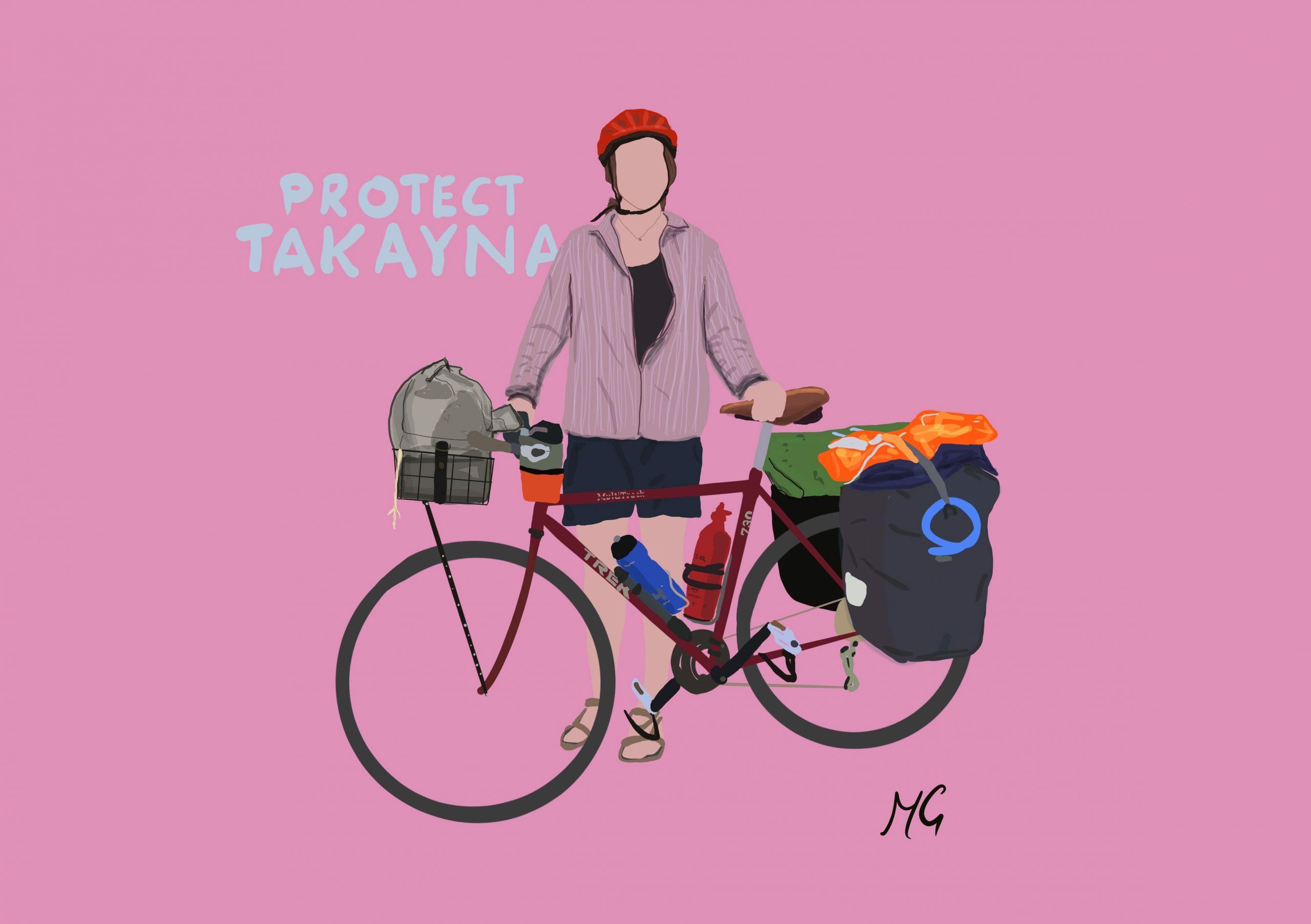 Tyla Bickley @Mattiedrawsbikes Mattie draws bikes bikepacking illustrations using procreate