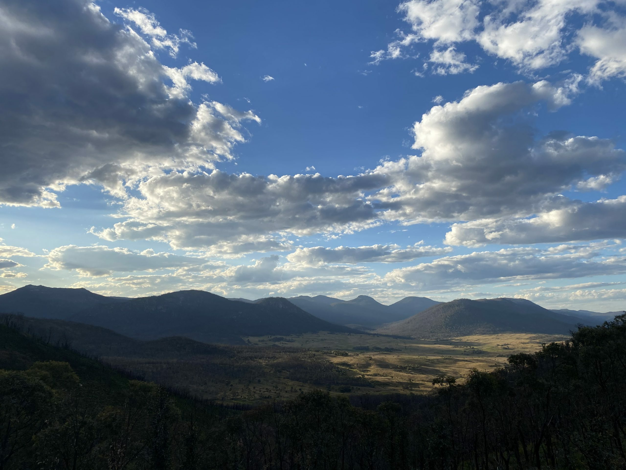 View from Hostpital Hill in Namadgi national park