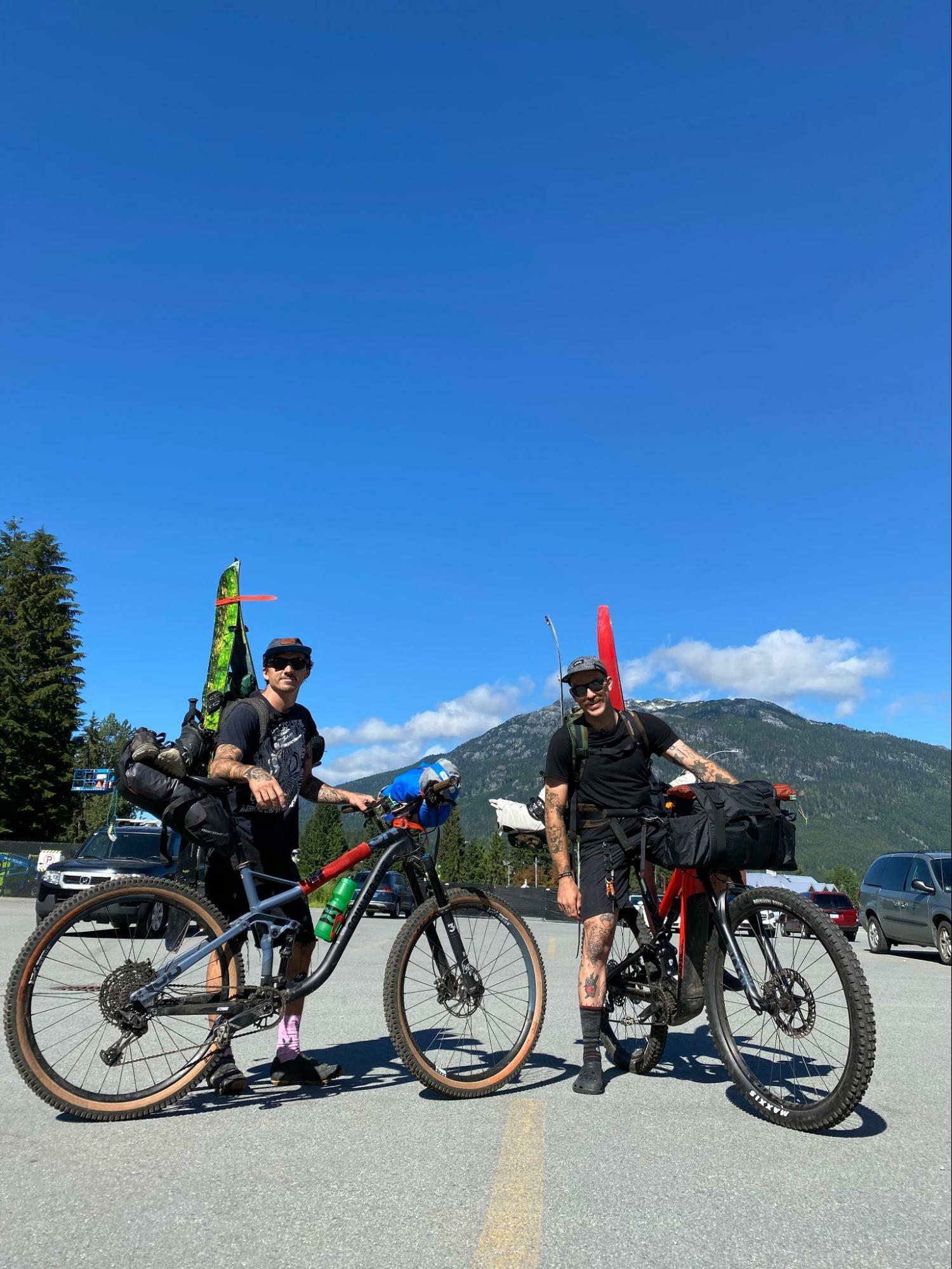 Bikepacking on ebikes with splitboards