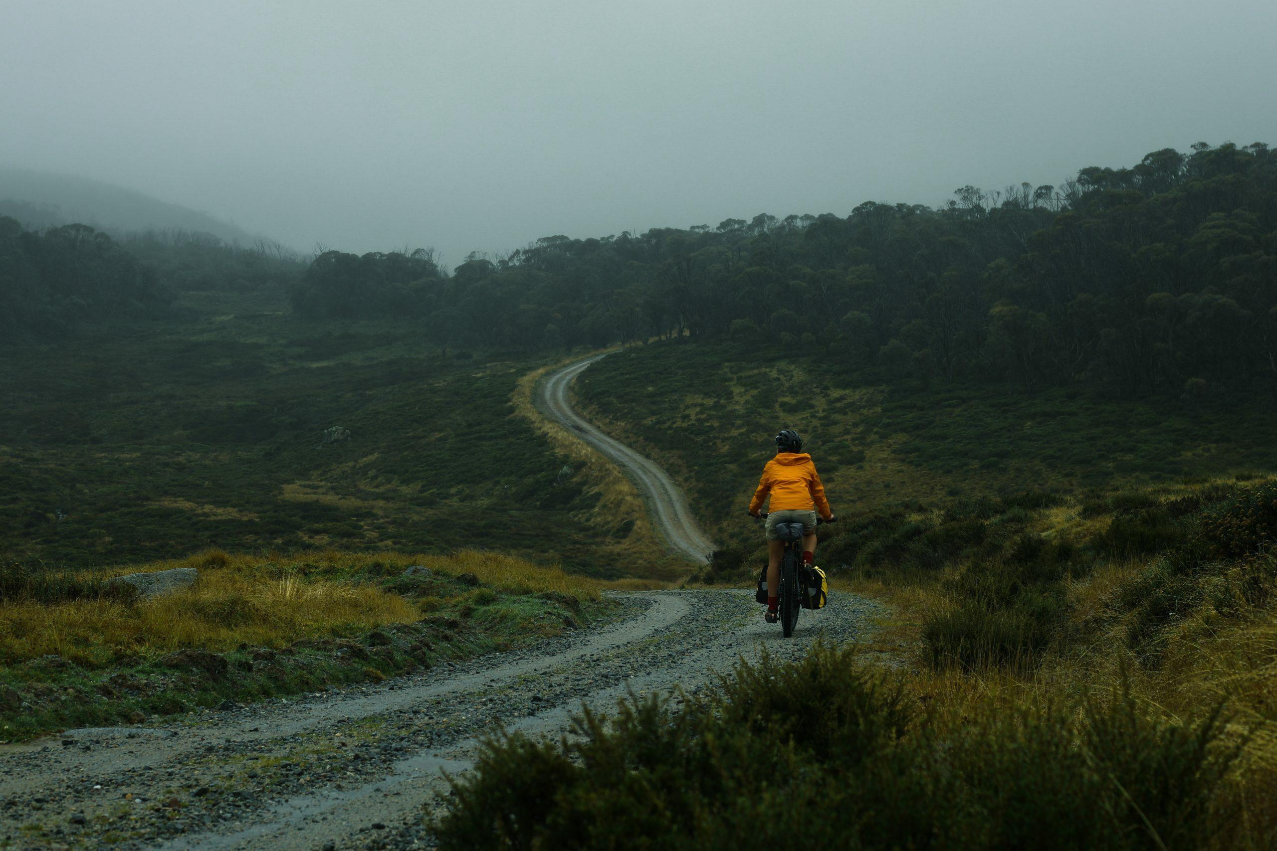 Bikepacking up Schlink Pass Road, Kosciuszko National Park