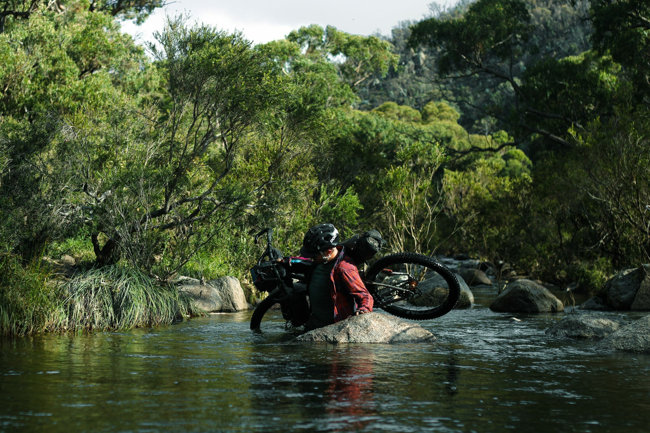 The deepest river crossing, bikepacking to Horse Gully Hut