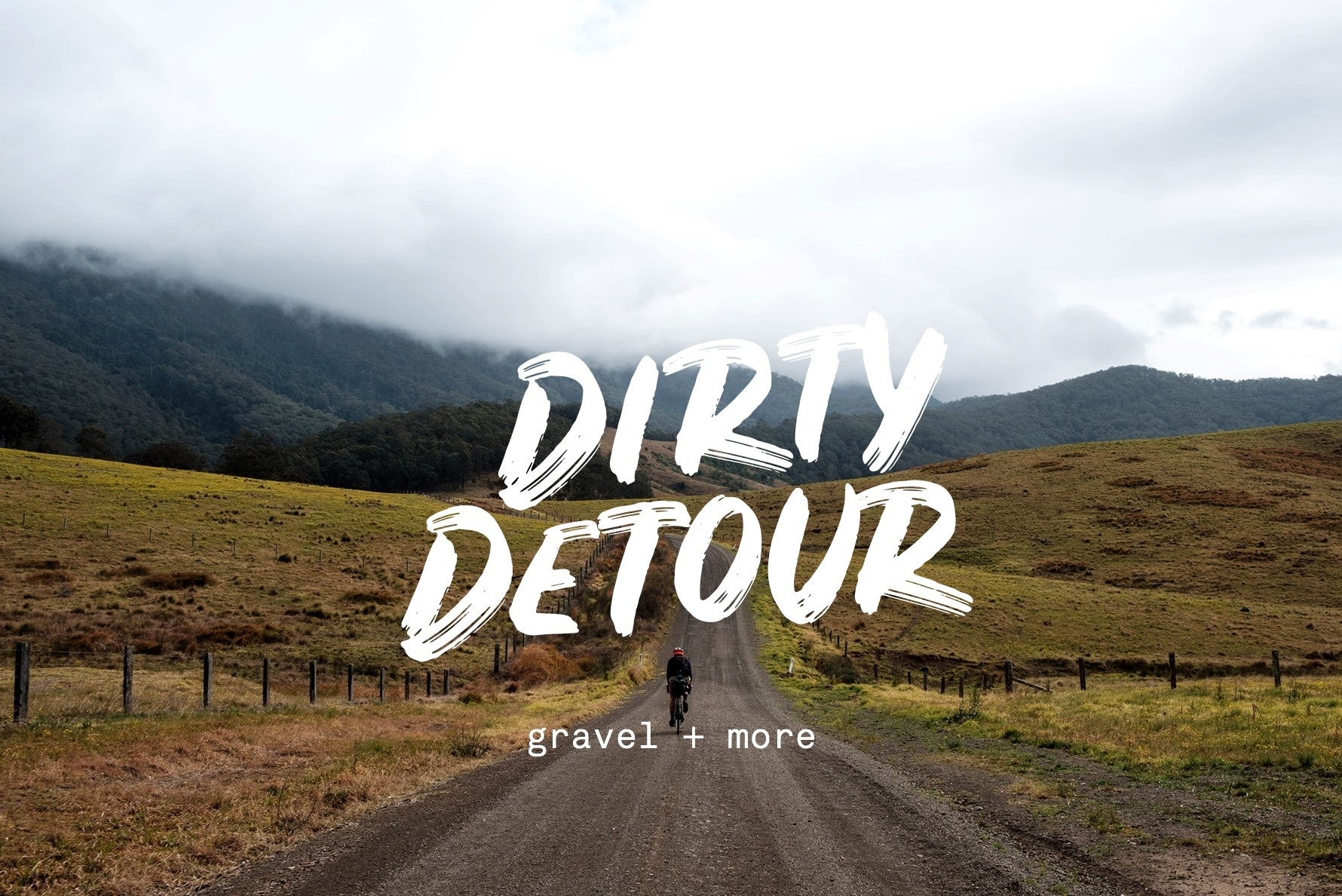 Dirty Detour Australian gravel race photo and logo