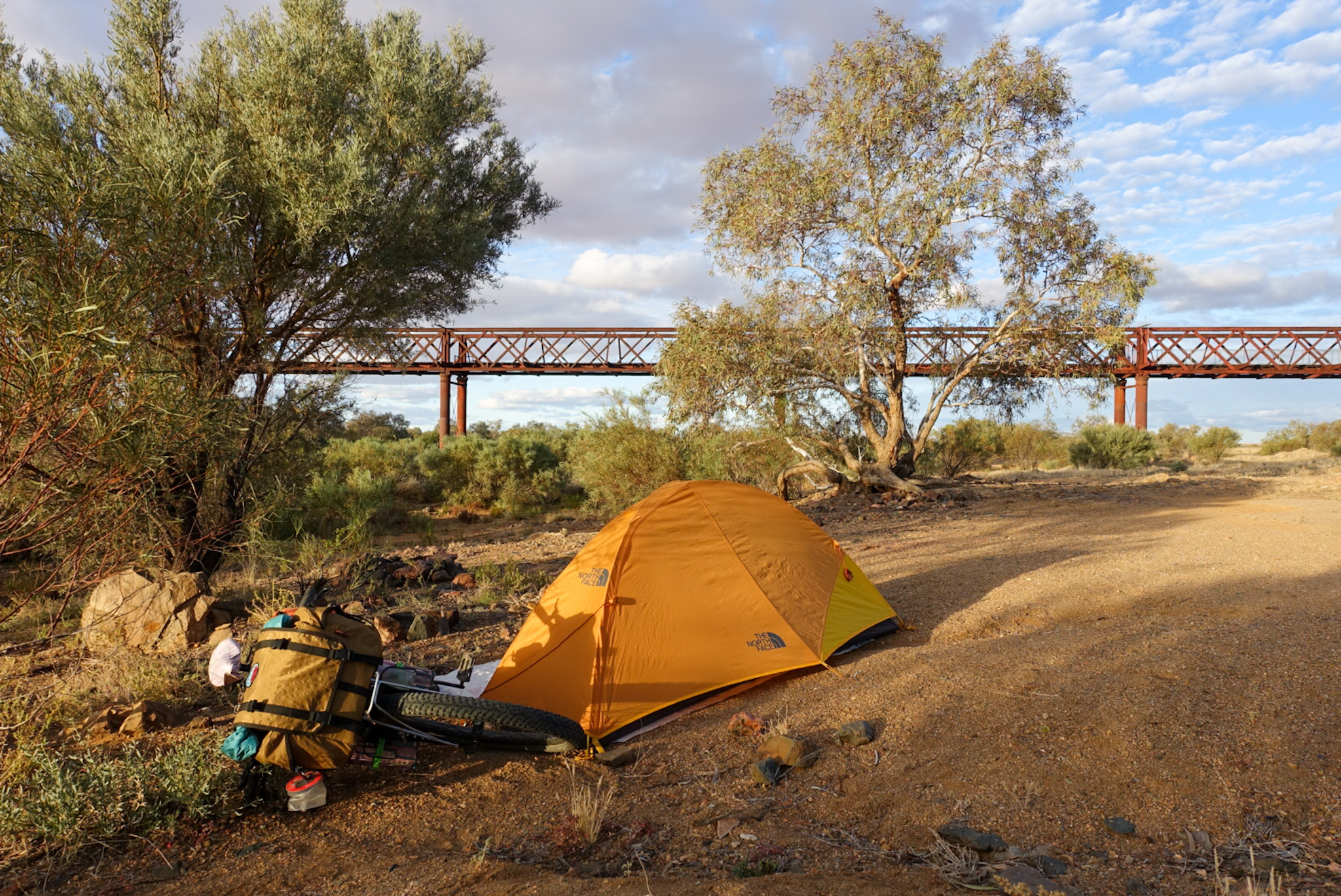 Camping on the Oodnadatta Track bikepacking