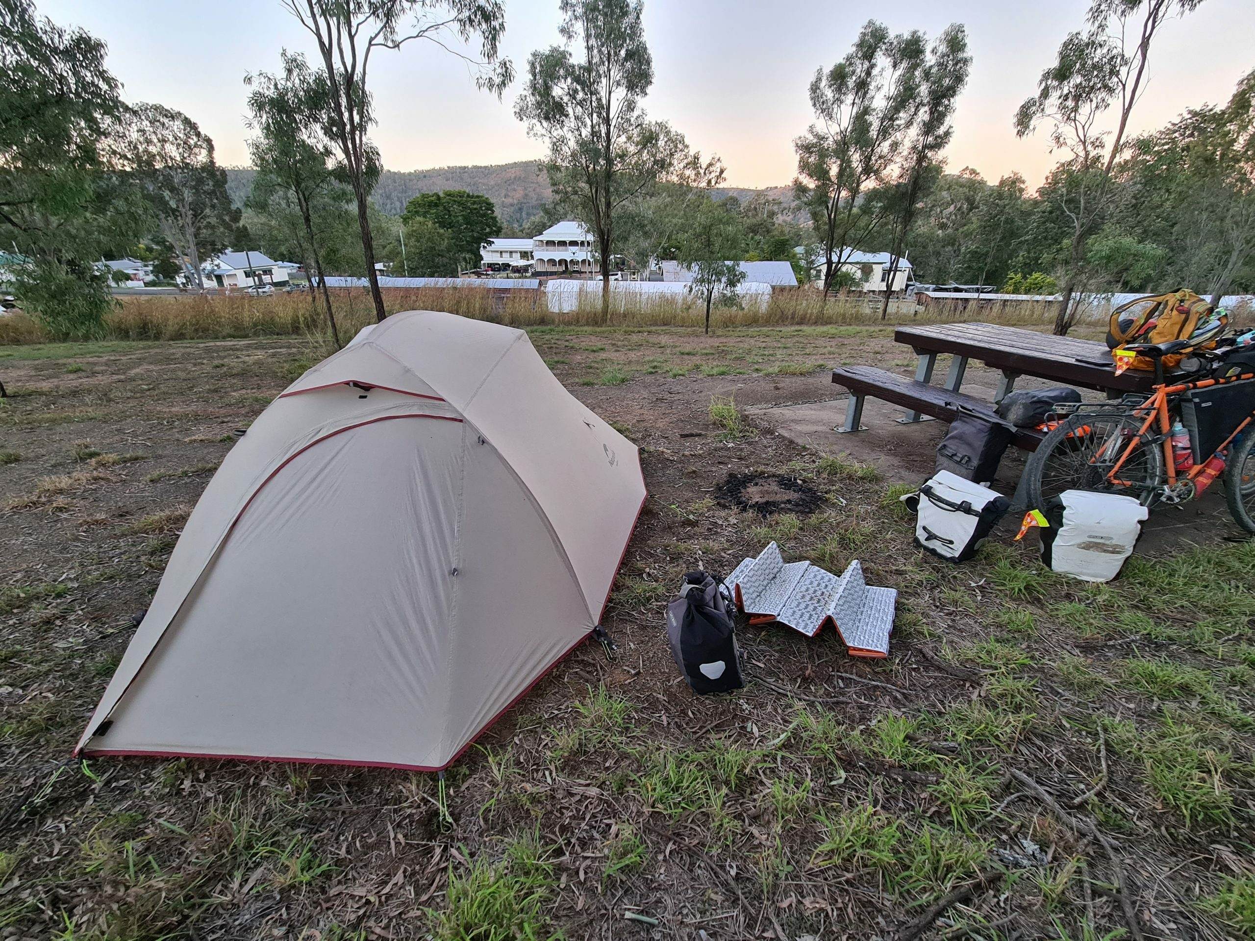 Camping at the Linville Hotel while Cycling the Brisbane Valley Rail Trail (BVRT)