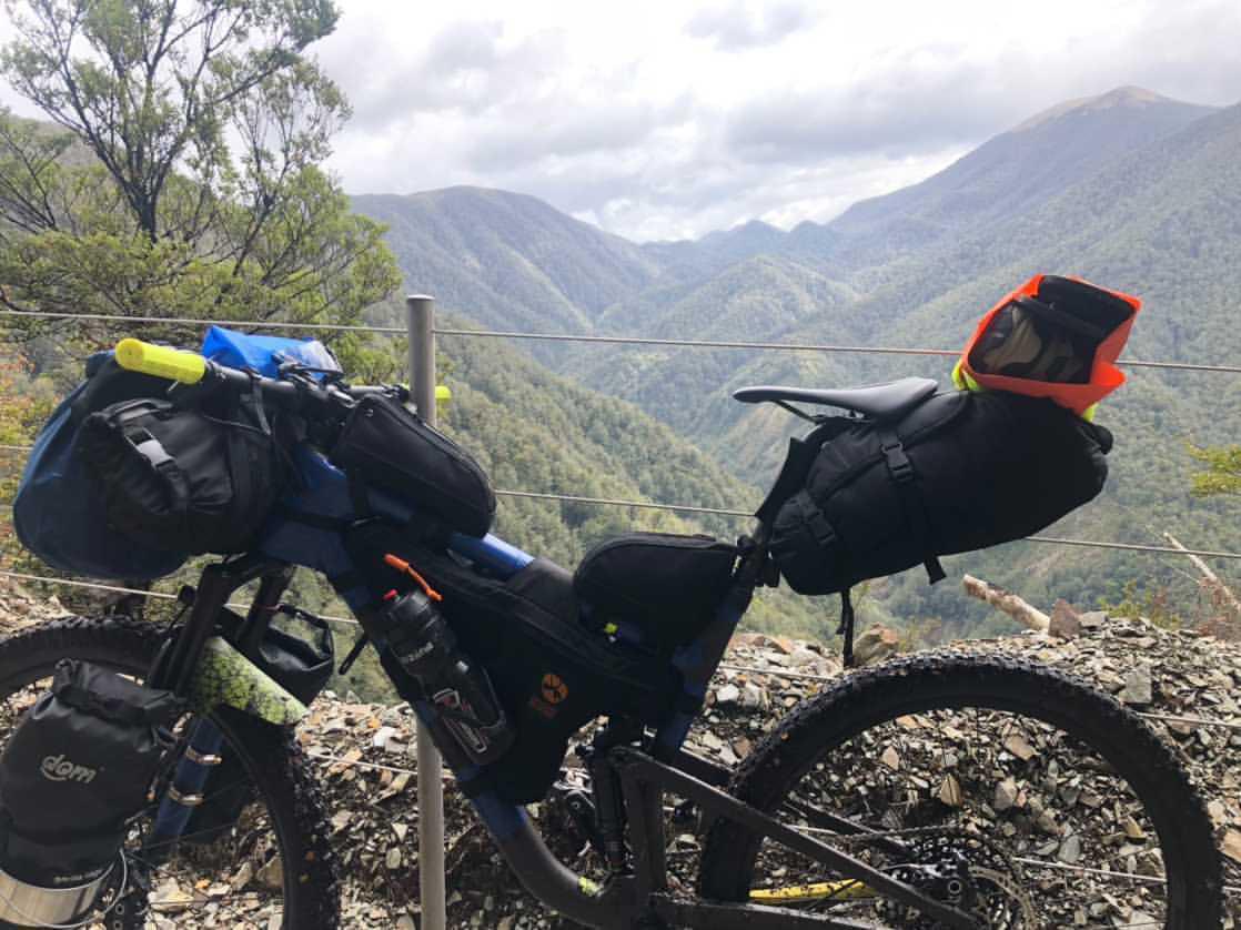 Dancing Moose bikepacking bags made in New Zealand
