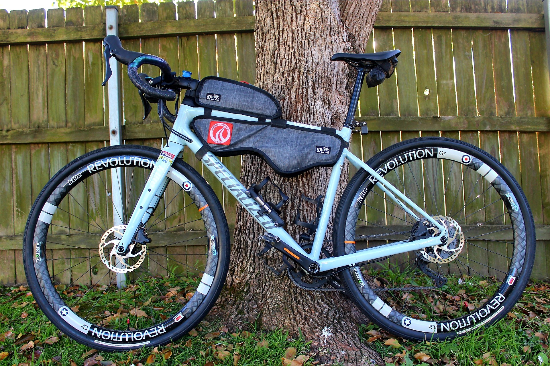 Bike Bag Dude bikepacking bags and kLite Revolution rims