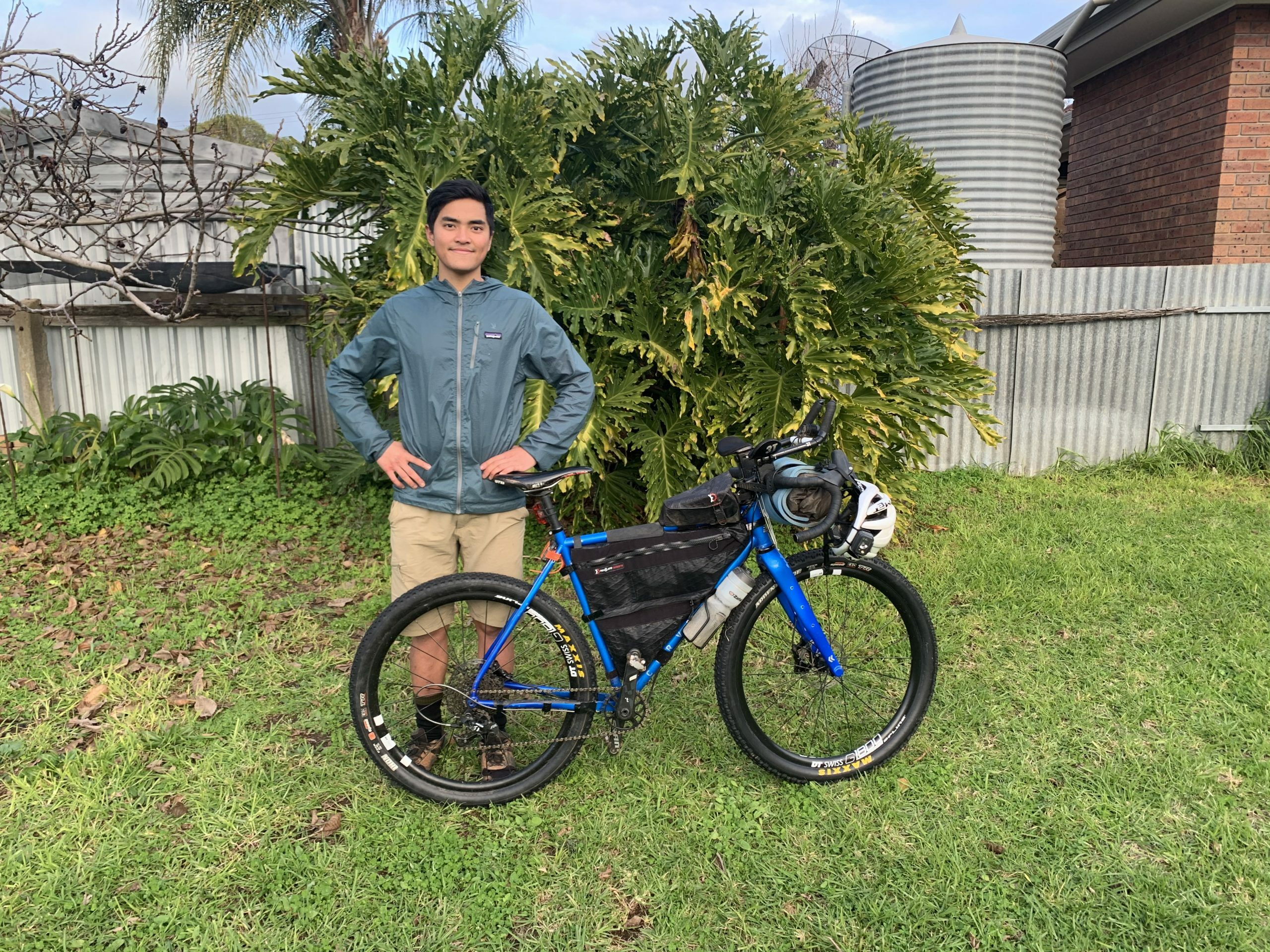 Farhan and his Curve bikepacking bike before the Kudlila Rally TT attempt