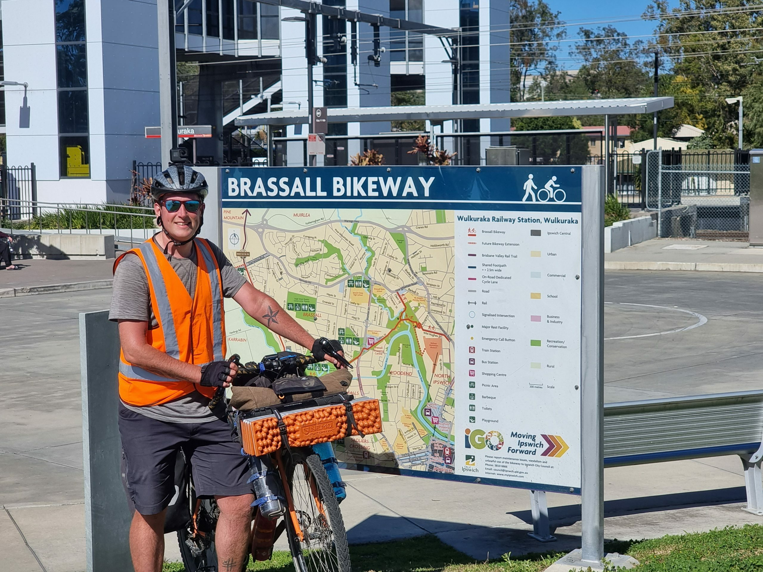 The southern start of the Brisbane Valley Rail Trail