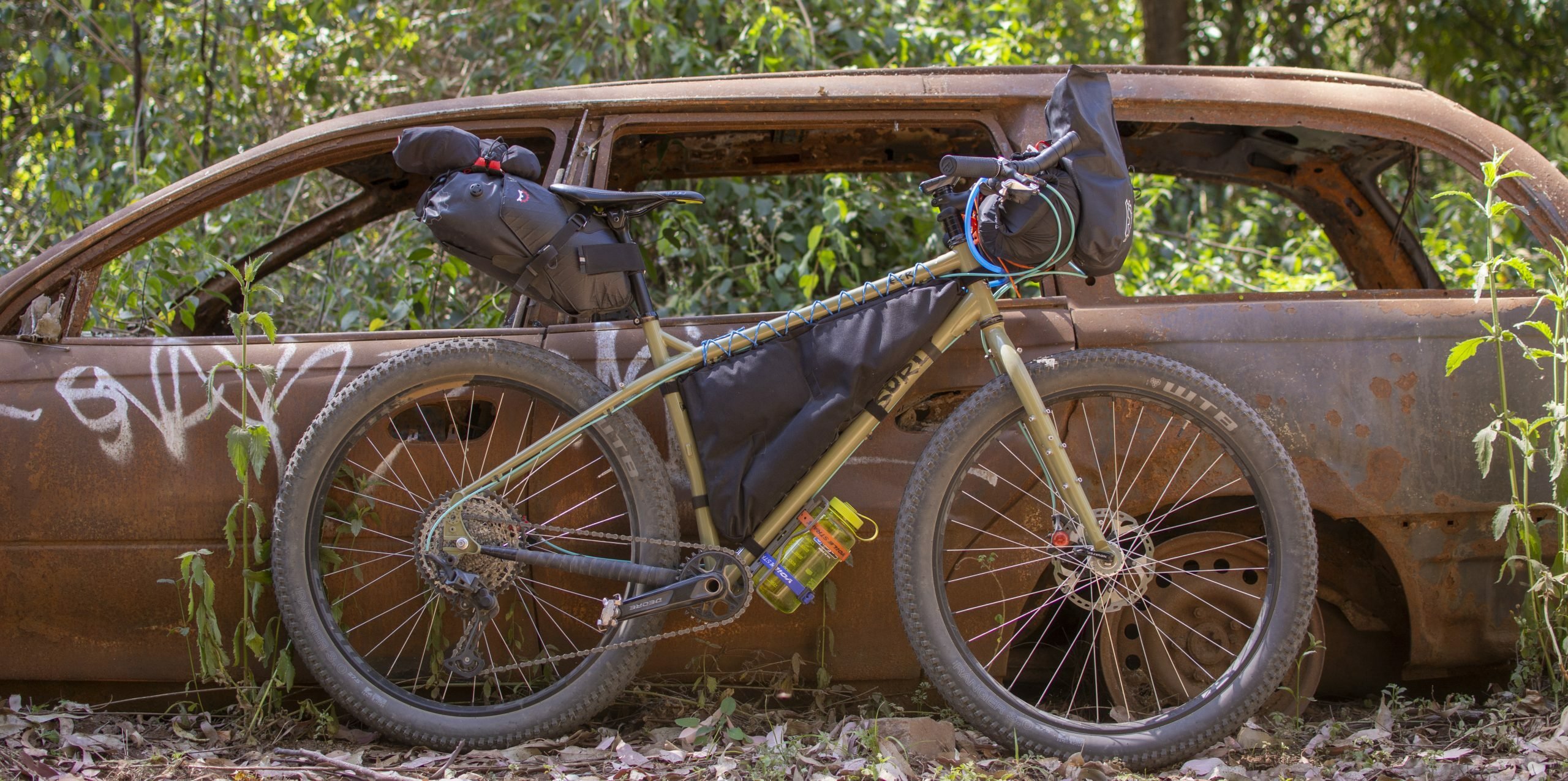 Surly bikes bushpig in bikepacking mode
