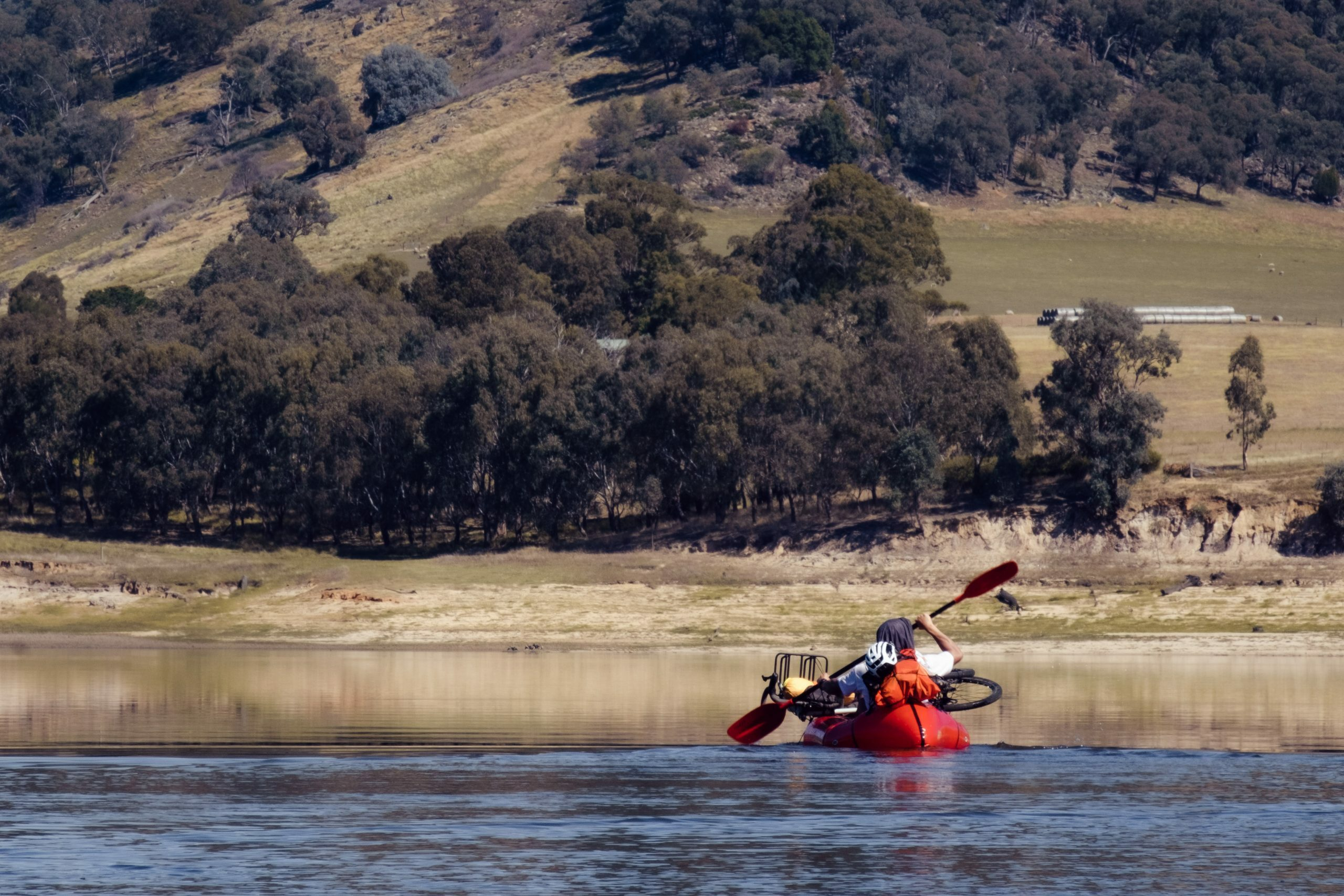 Packrafting on the murray river