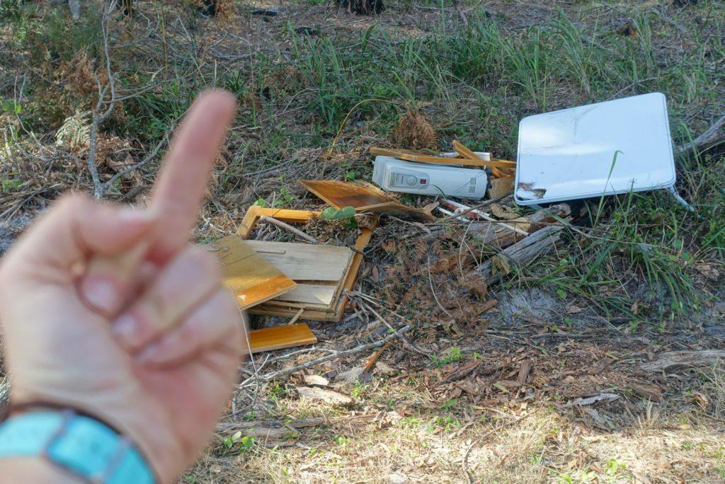 Rubbish on trails, the reason we need trash trek
